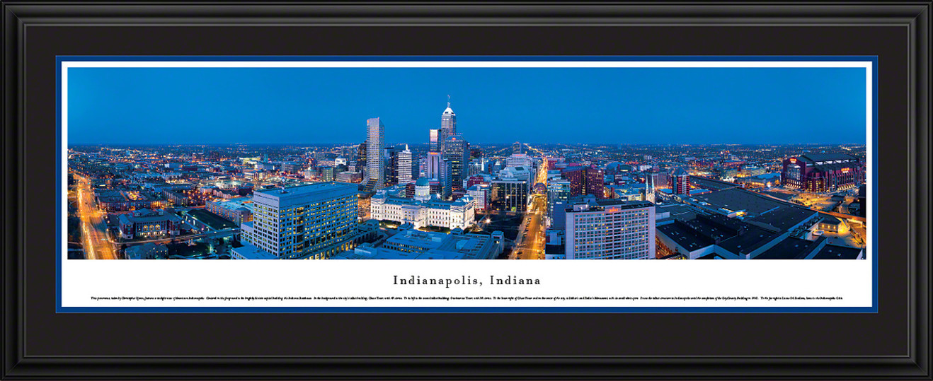 Indianapolis, Indiana Skyline Panorama - Twilight