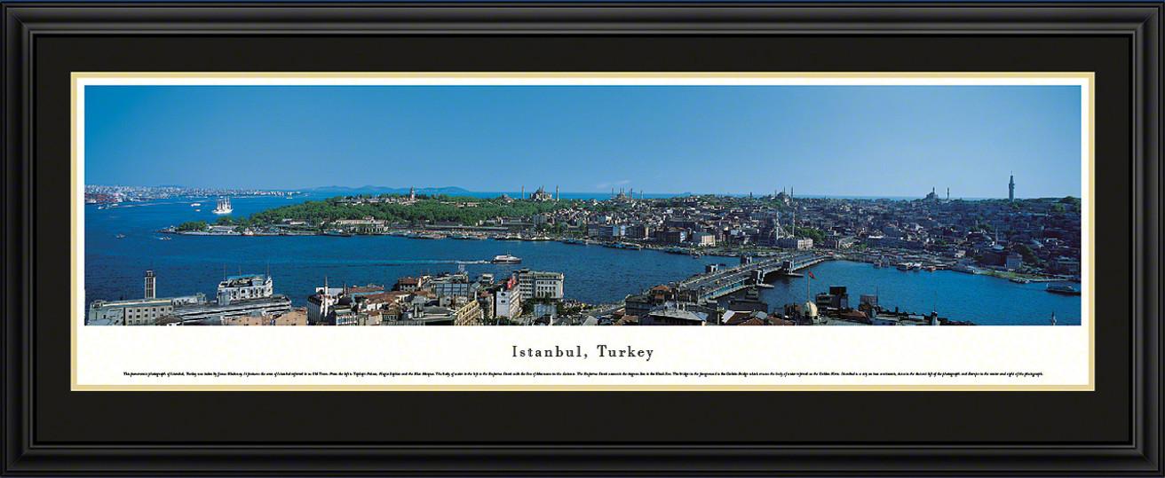 Istanbul, Turkey City Skyline Panoramic Picture