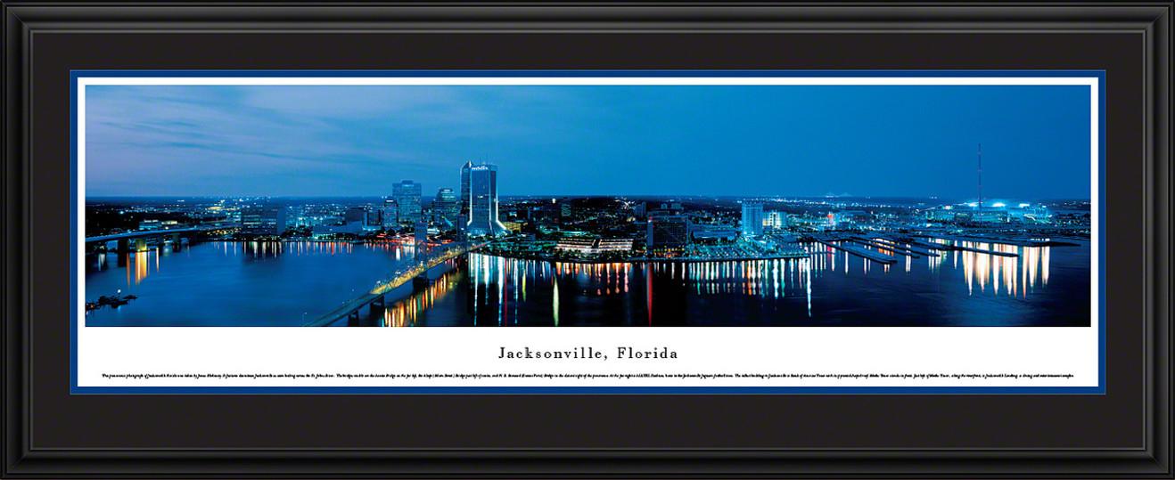 Jacksonville, Florida Panoramic Skyline Picture - Twilight