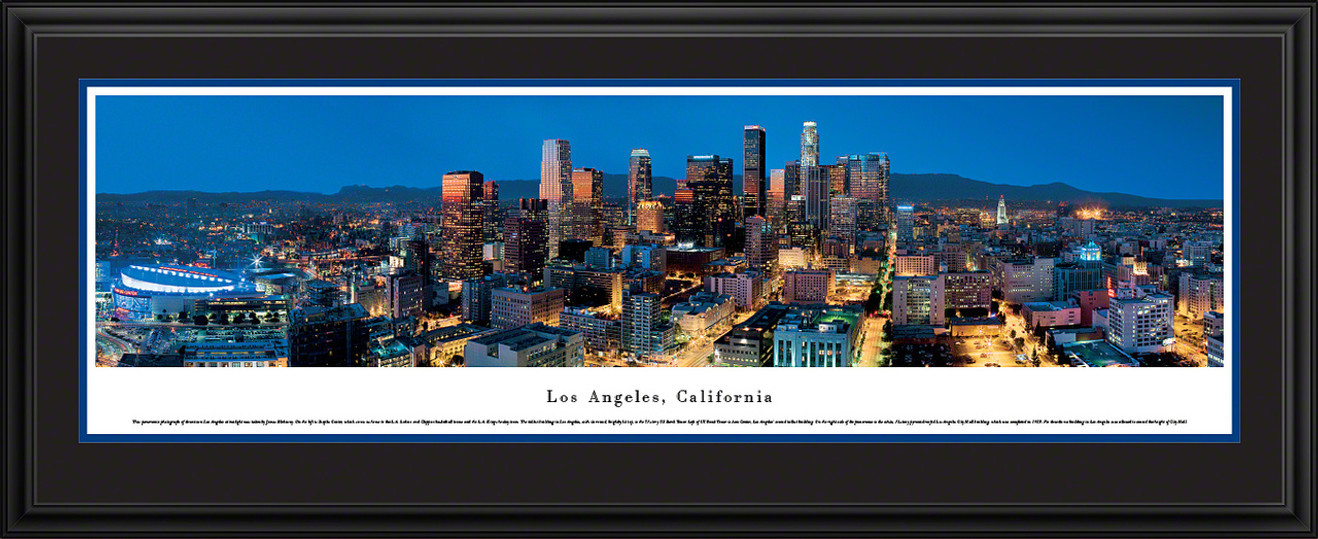 Los Angeles, California City Skyline Panoramic Picture - Twilight