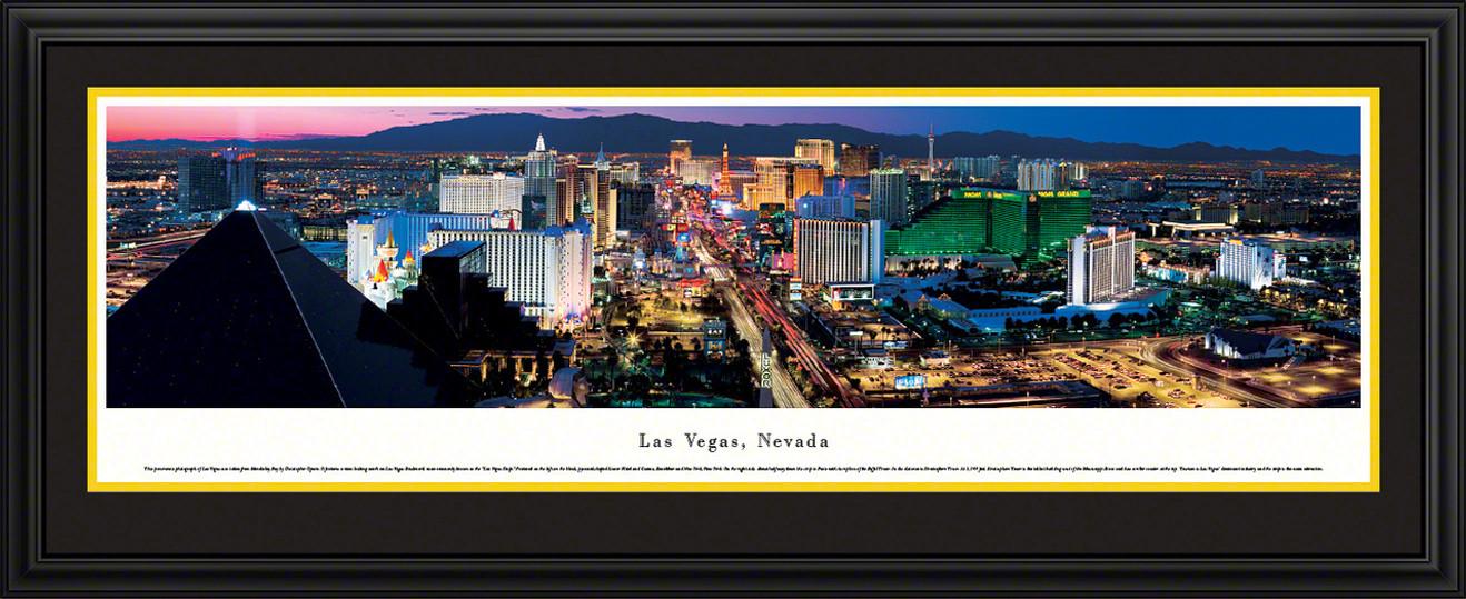Las Vegas, Nevada City Skyline Panoramic Picture - Twilight