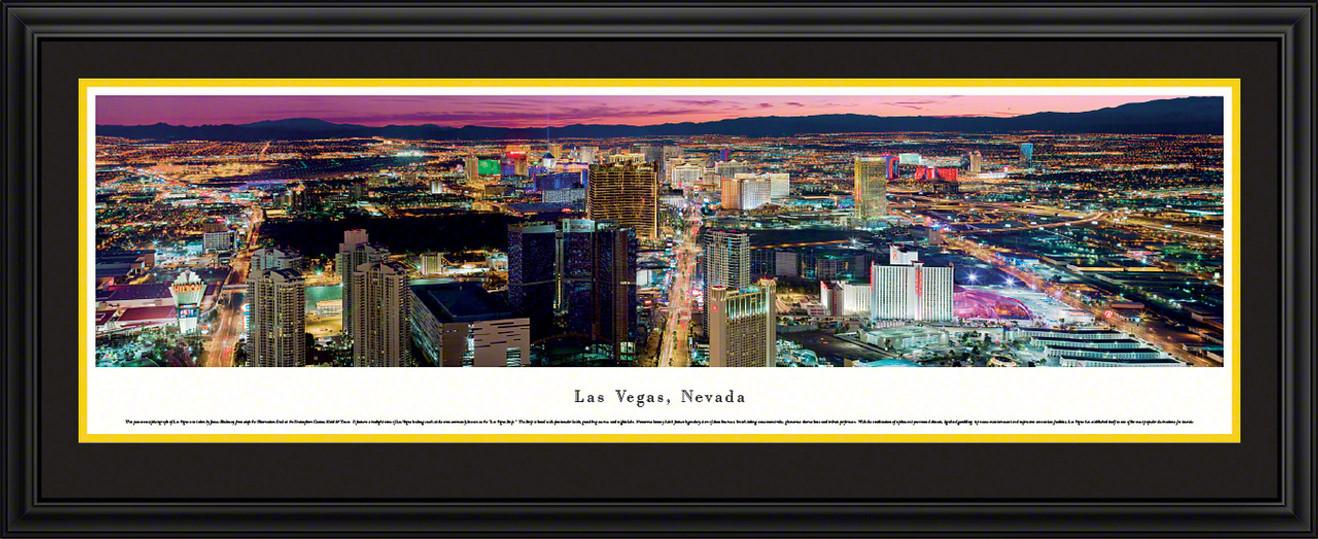 Las Vegas, Nevada Sunset Skyline Panorama - Twilight