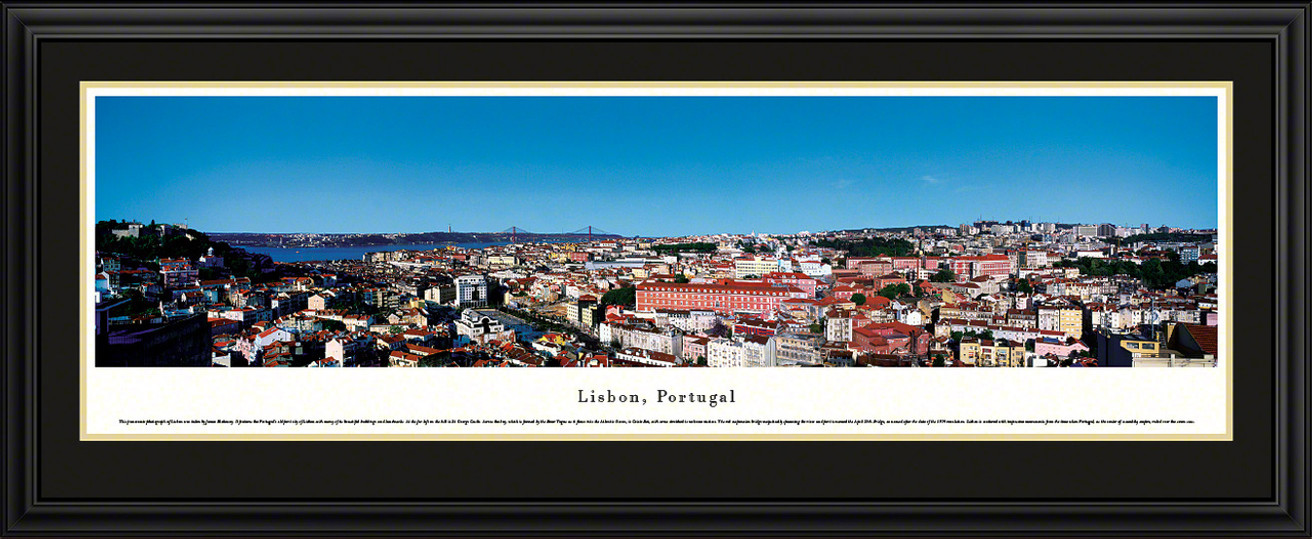 Lisbon, Portugal City Skyline Panoramic Picture