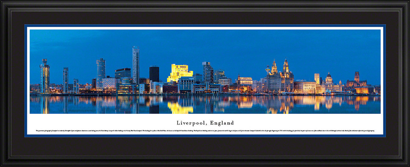 Liverpool, England City Skyline Panoramic Picture - Twilight