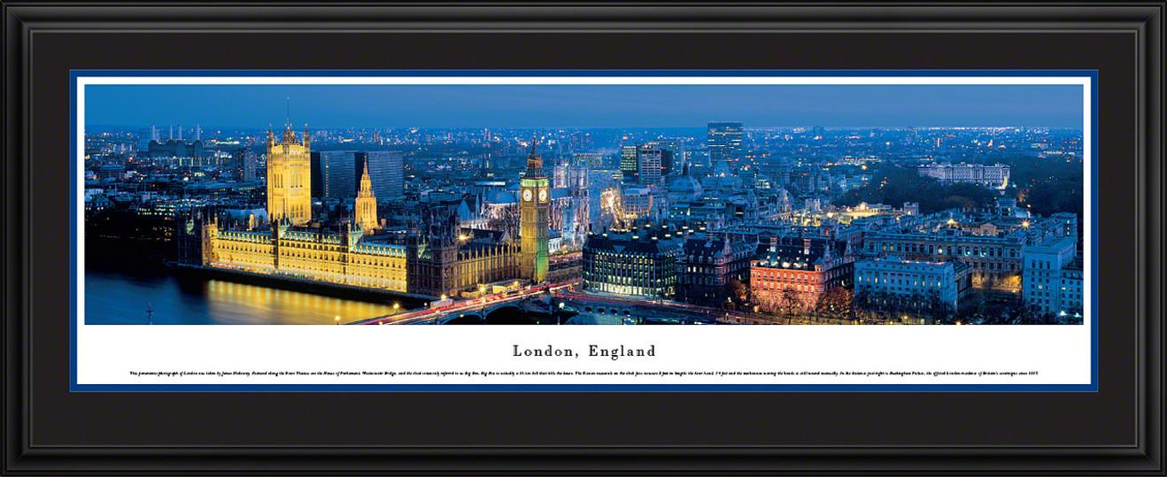 London, England City Skyline Panorama - Twilight