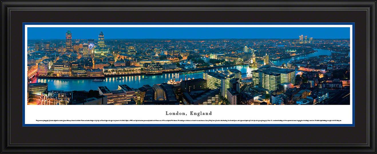 London, England Skyline Panorama - Twilight