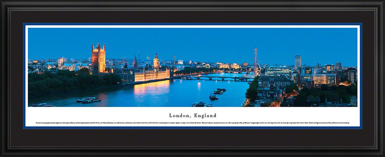 London, England Panoramic Skyline Picture - Twilight