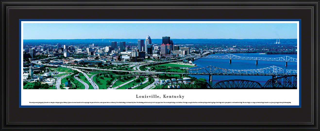 Louisville, Kentucky City Skyline Panoramic Picture