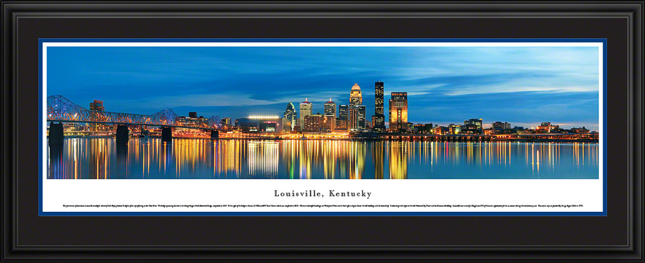 Louisville, Kentucky Skyline Panorama - Twilight