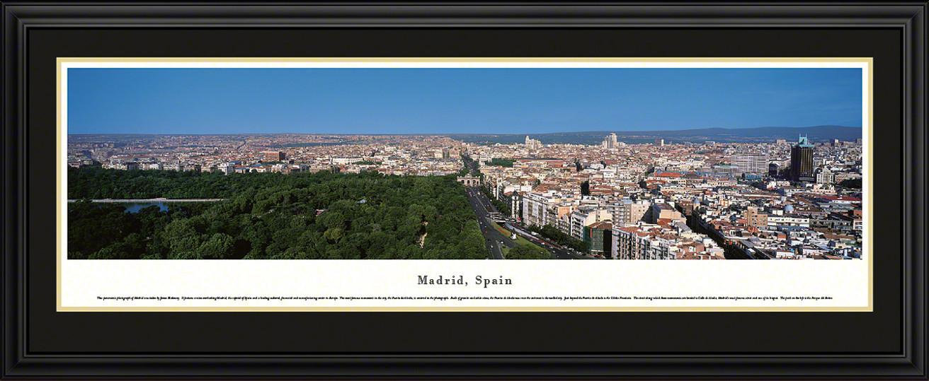 Madrid, Spain Panoramic Skyline Picture