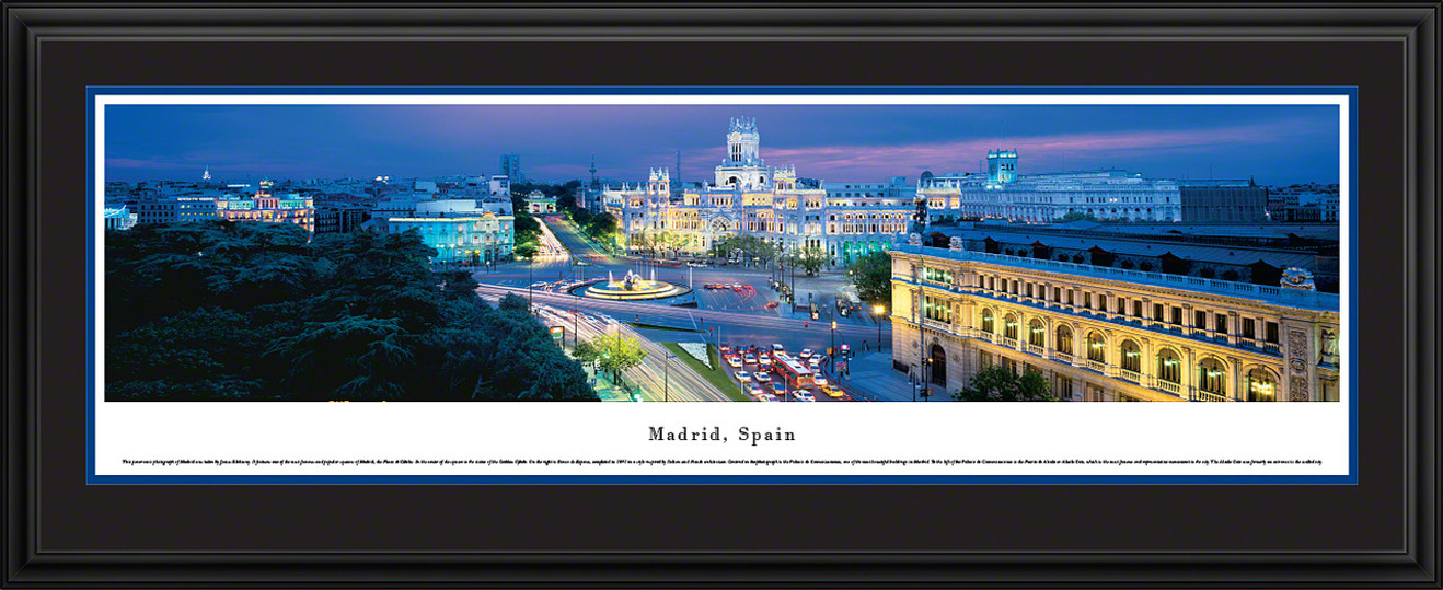 Madrid, Spain Panoramic Skyline Picture - Twilight