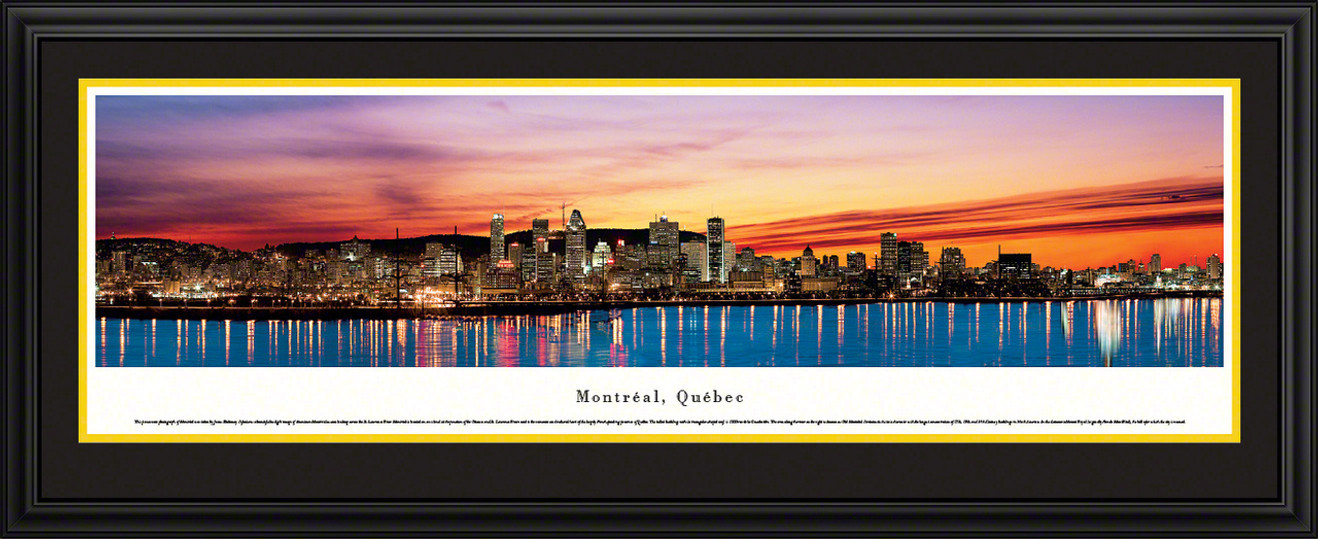 Montreal, Quebec, Canada City Skyline Panoramic Picture - Twilight