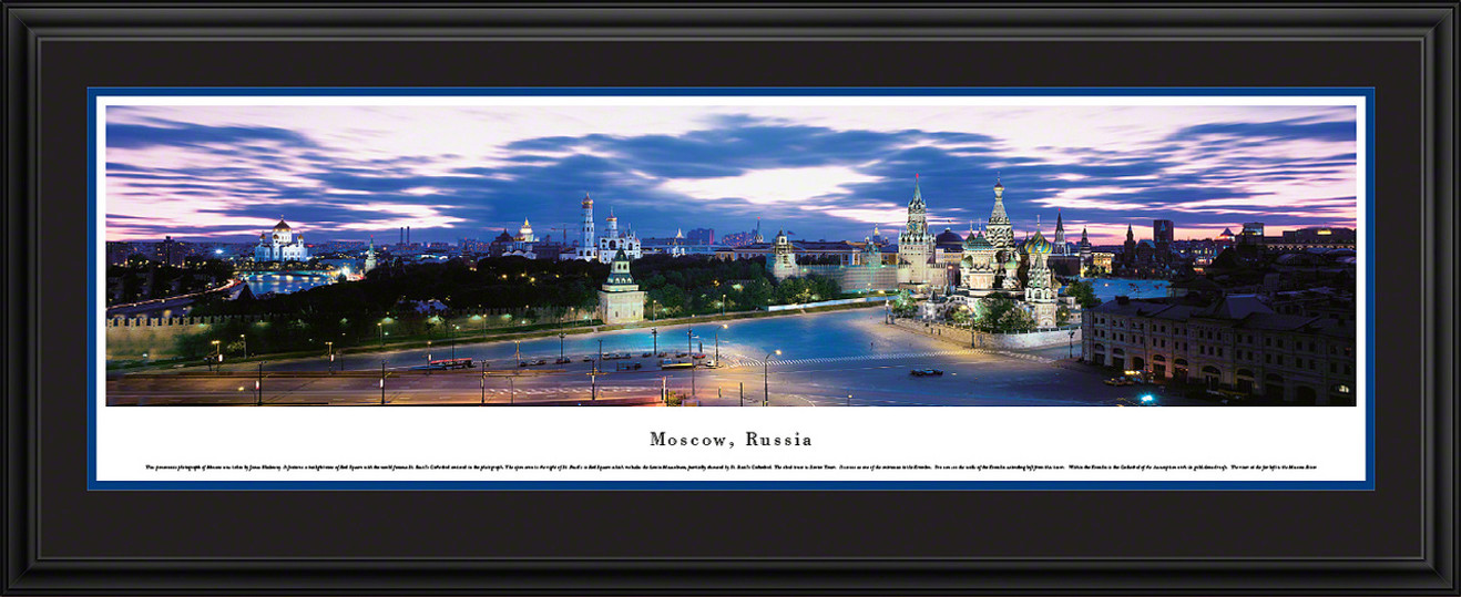 Moscow, Russia City Skyline Panoramic Picture - Twilight