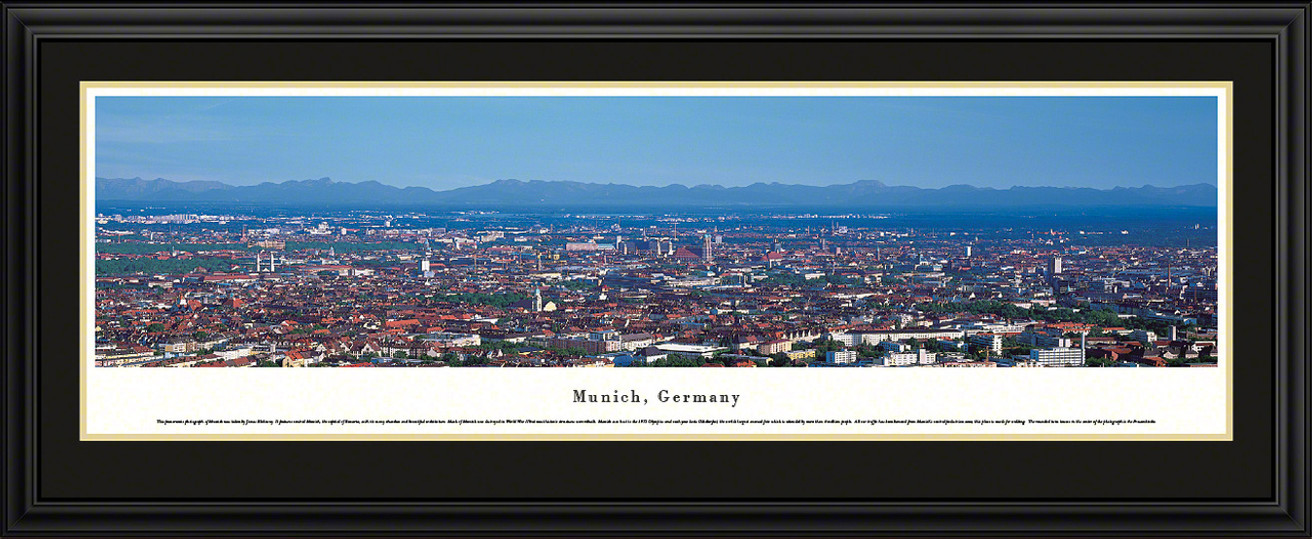 Munich, Germany City Skyline Panoramic Picture
