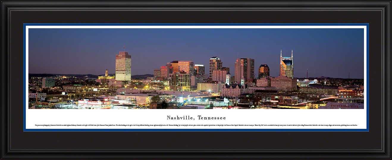 Nashville, Tennessee Skyline Panoramic Picture - Twilight