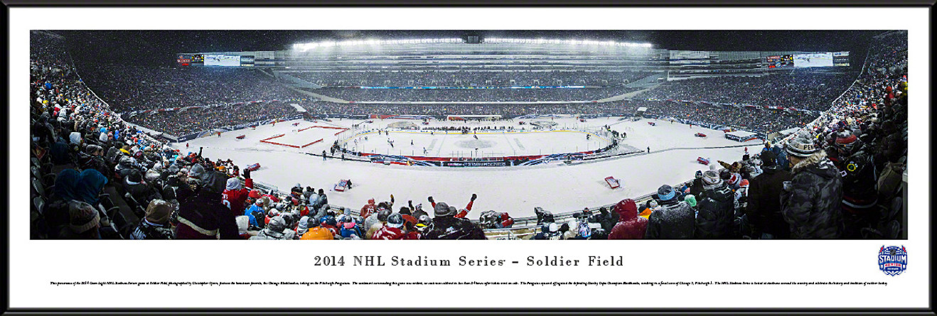 2014 Stadium Series Panoramic Picture - Chicago Blackhawks vs. Pittsburgh Penguins