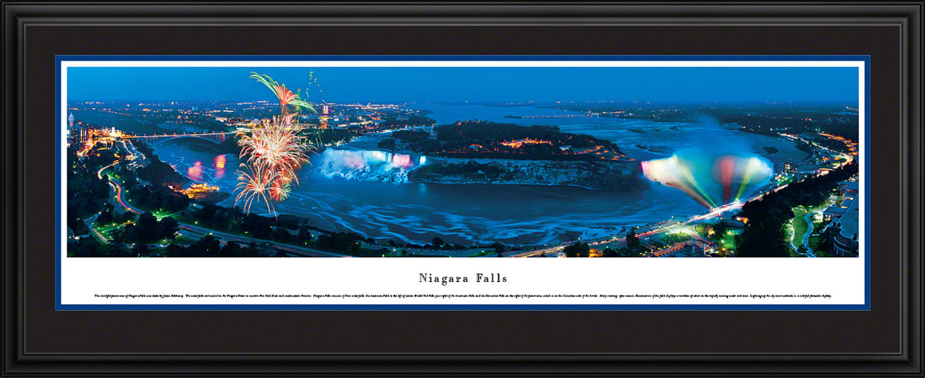 Niagara Falls Panoramic Picture - Fireworks