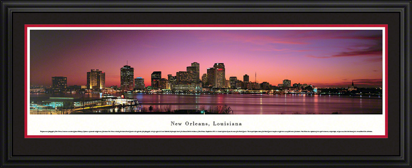New Orleans, Louisiana City Skyline Panoramic Picture - Twilight