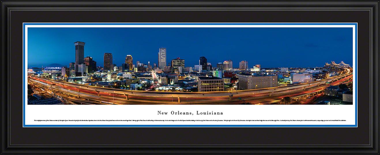 New Orleans, Louisiana Skyline Panorama - Twilight