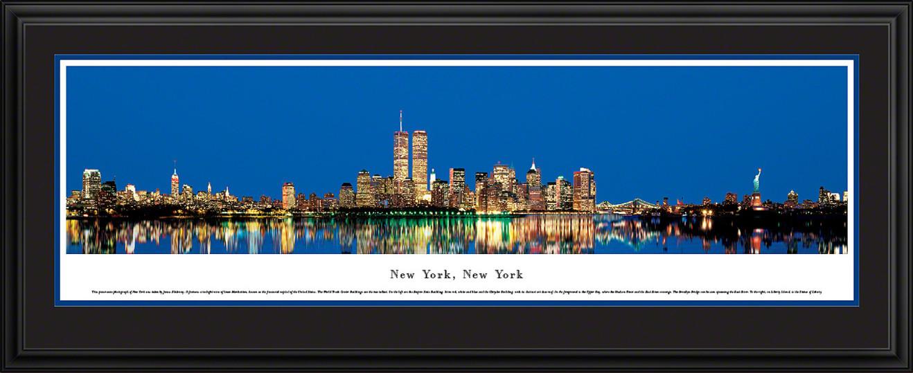 New York City Panoramic Skyline Picture - Twilight