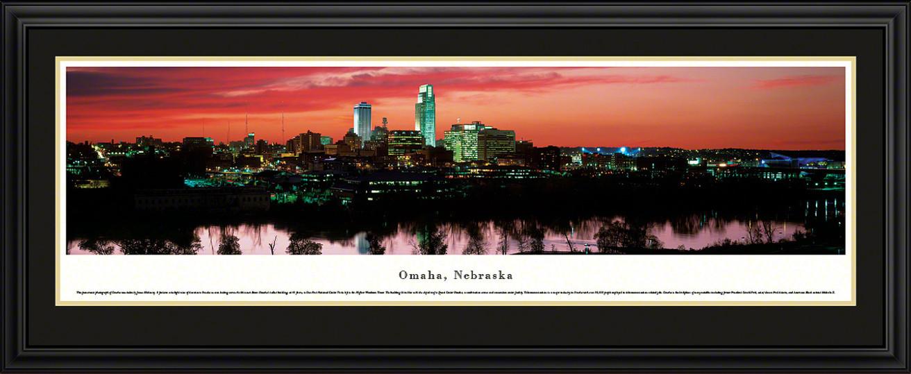 Omaha, Nebraska Skyline Panoramic Picture - Twilight