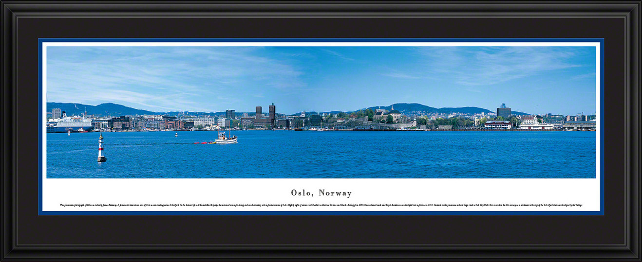 Oslo, Norway City Skyline Panoramic Picture