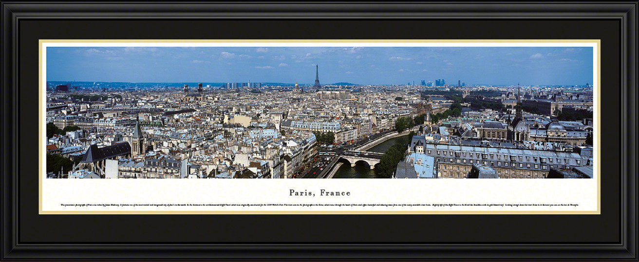 Paris, France City Skyline Panoramic Picture