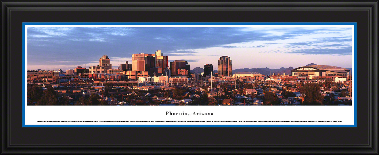 Phoenix, Arizona City Skyline Panoramic Picture - Twilight