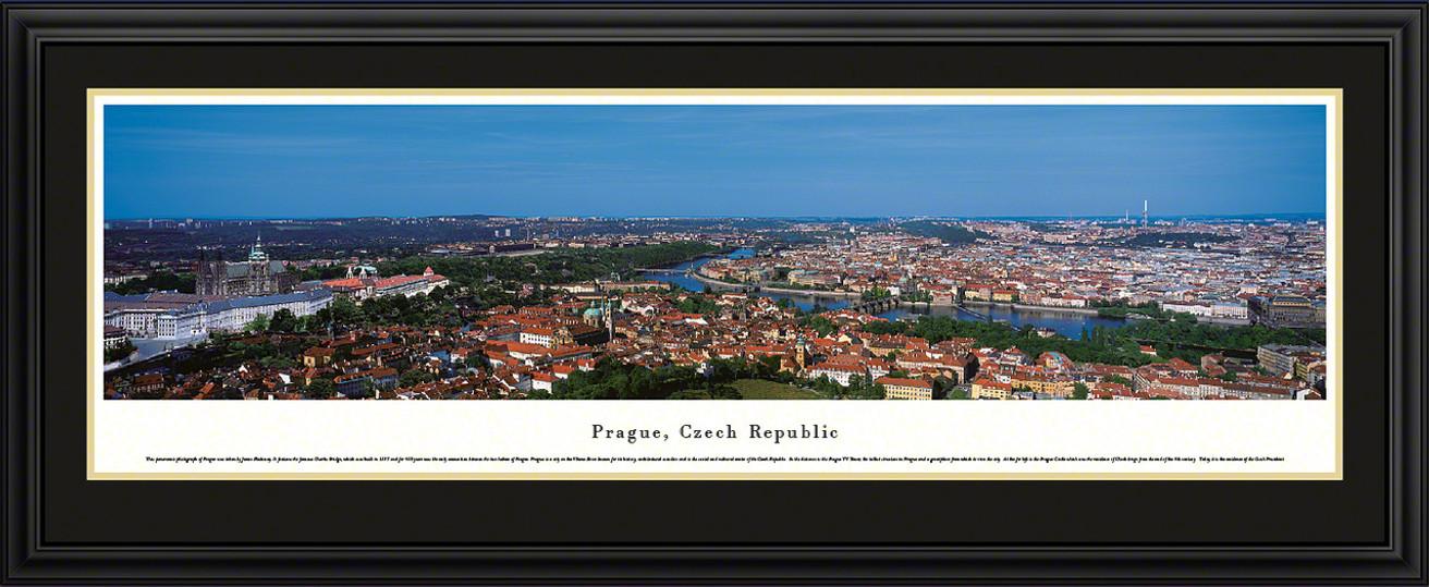 Prague, Czech Republic City Skyline Panoramic Picture