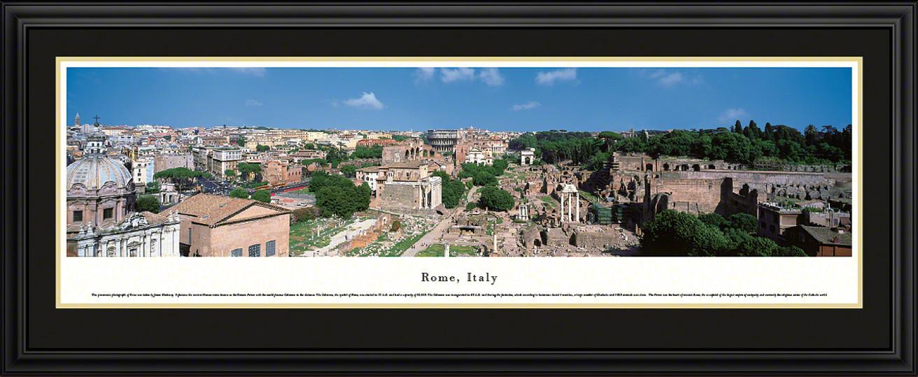 Rome, Italy City Skyline Panorama