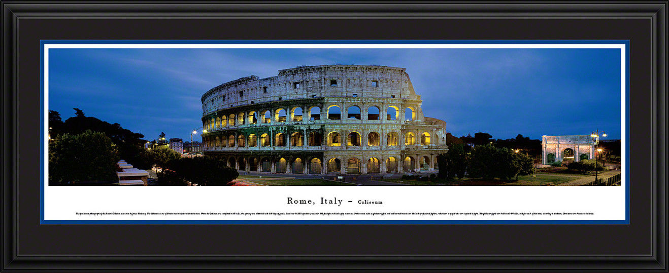 Rome, Italy - Roman Coliseum Panoramic Picture