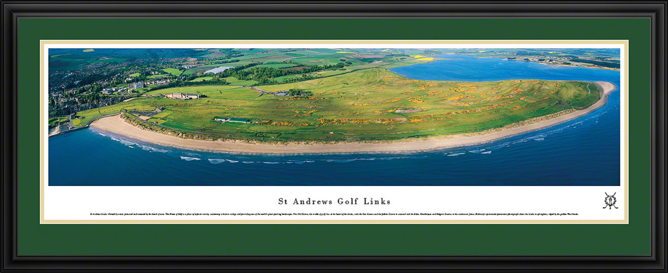 St Andrews Links Panoramic Picture - Inland Golf Aerial