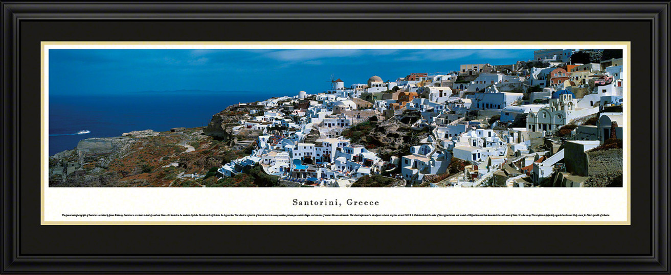 Santorini, Greece Skyline Panorama