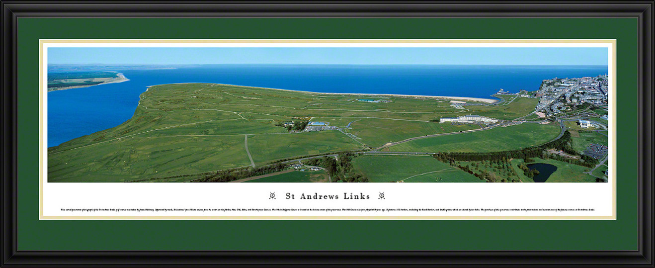 St Andrews Links Golf Panoramic Picture - Aerial