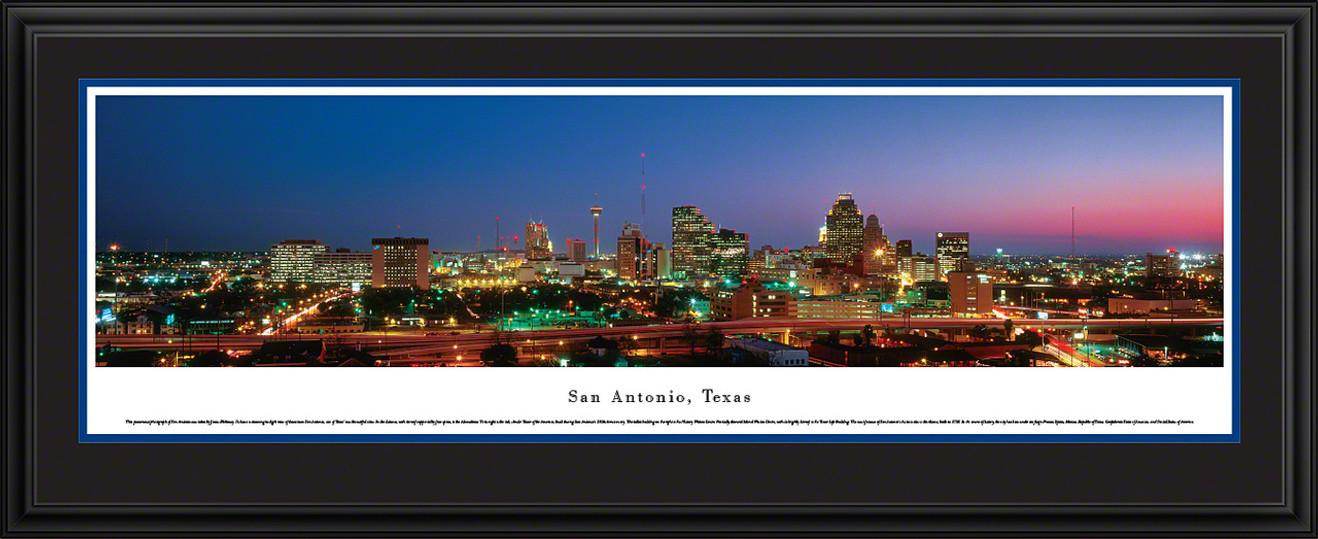 San Antonio, Texas Panoramic Skyline Picture - Twilight