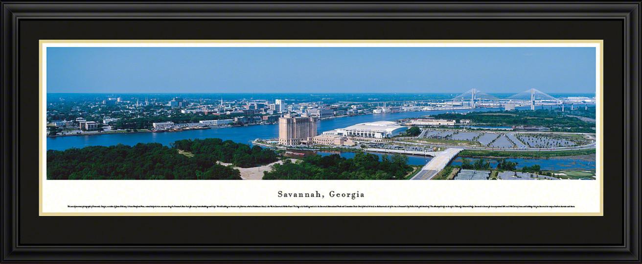 Savannah, Georgia City Skyline Panorama
