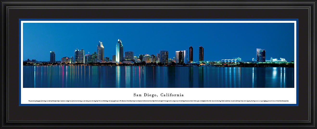 San Diego, California City Skyline Panorama - Twilight