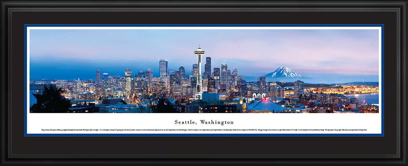 Seattle, Washington City Skyline Panorama - Twilight