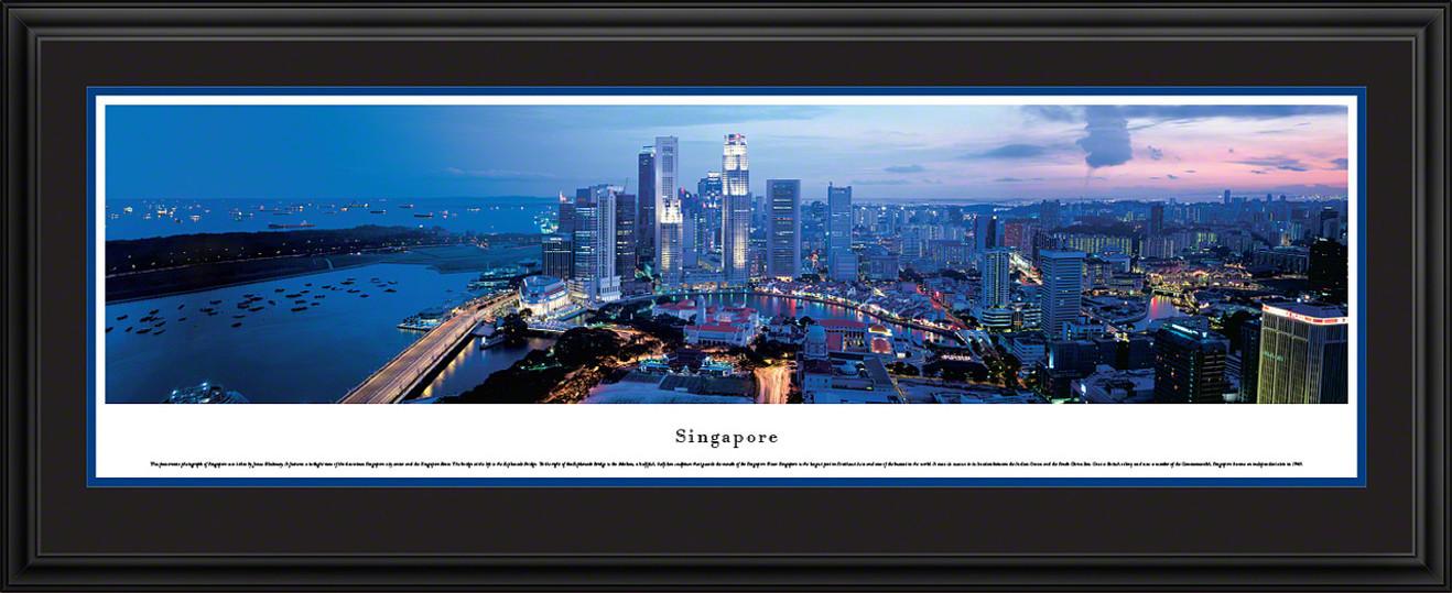 Singapore Skyline Panoramic Picture