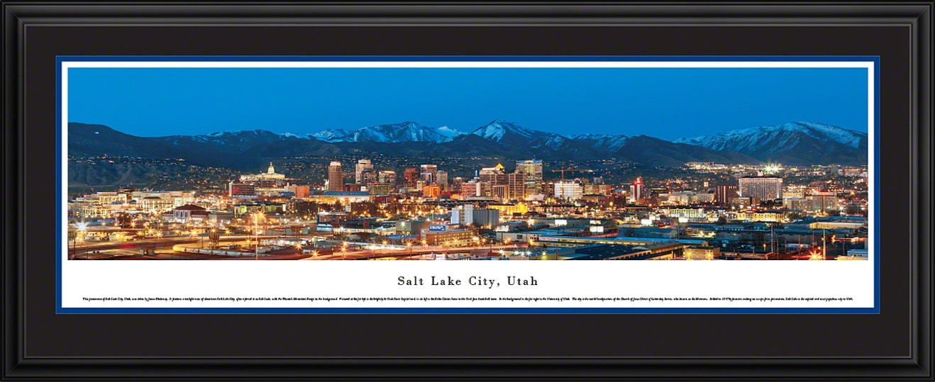 Salt Lake City, Utah Skyline Panorama - Twilight