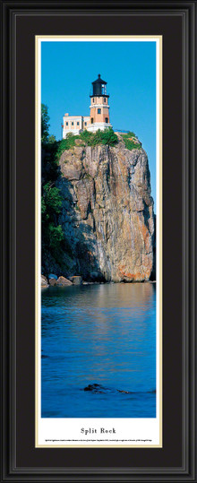 Split Rock Lighthouse Panoramic Picture - Day - Vertical Panorama