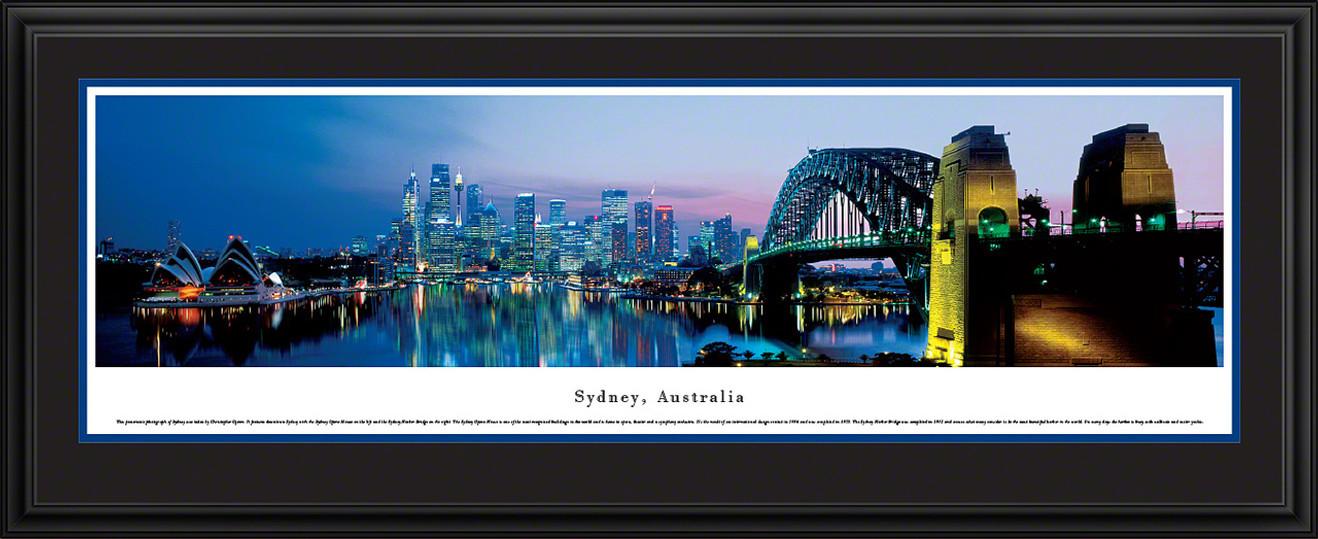 Sydney, Australia Panoramic Skyline Picture - Twilight