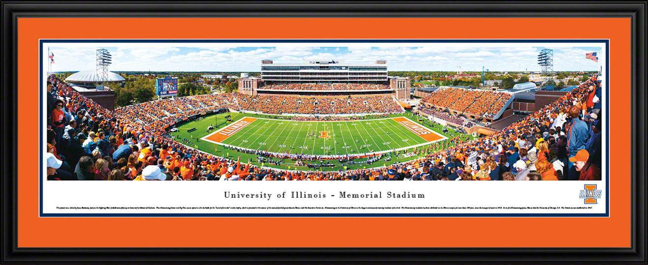 Illinois Fighting Illini Panoramic - Memorial Stadium Picture - Football