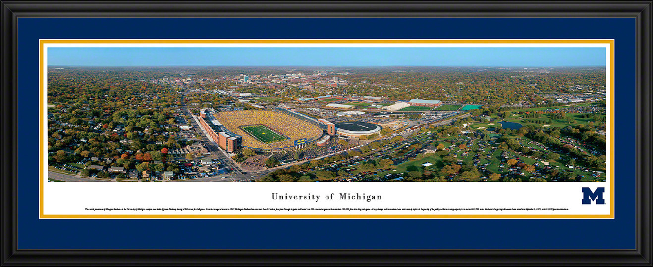 Michigan Wolverines Panoramic - Michigan Stadium Big House Picture