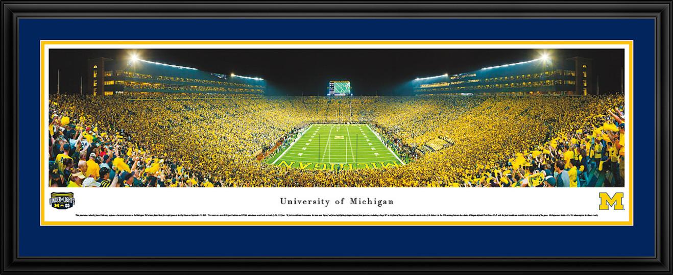 Michigan Wolverines Panoramic Picture - Michigan Stadium Big House Picture