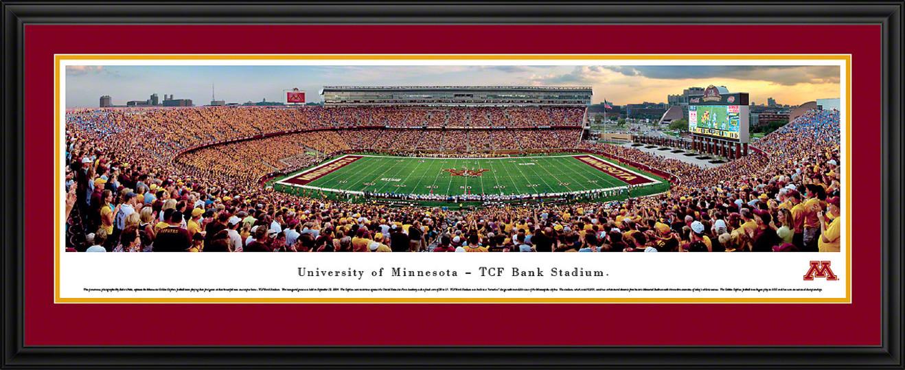 Minnesota Gophers Panoramic - TCF Bank Stadium Picture - Football