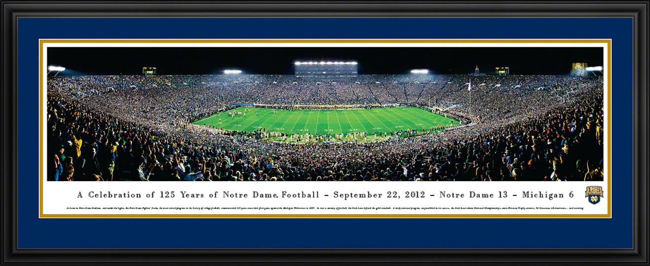 Notre Dame Fighting Irish Panorama - 125 Year Celebration Game