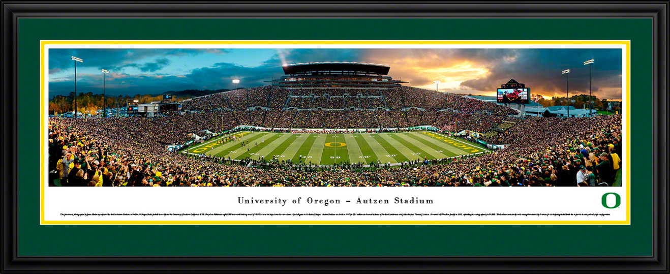 Oregon Ducks Panoramic - Autzen Stadium Picture