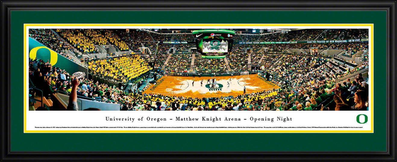 Oregon Ducks Panoramic - Matthew Knight Arena Opening Night Picture