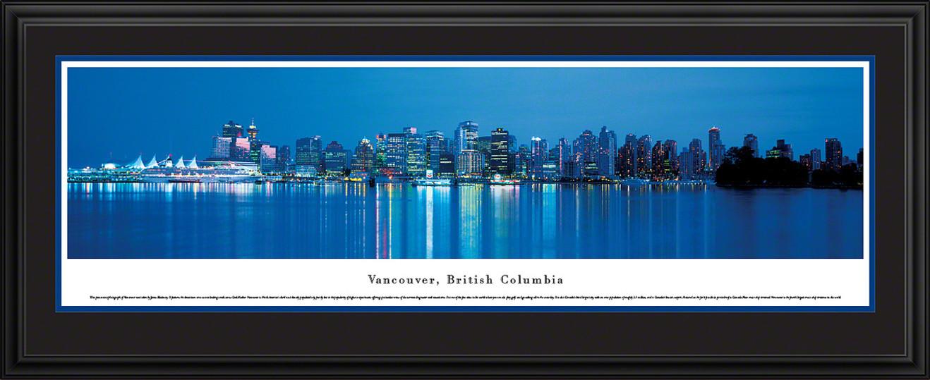 Vancouver, British Columbia, Canada City Skyline Panorama - Twilight